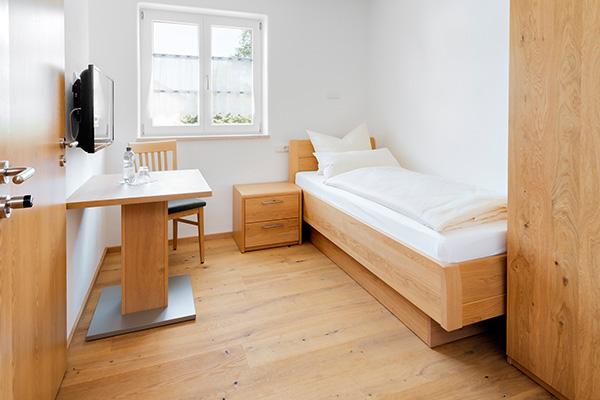 Einzelzimmer in der Pension Neubauer Hörbach